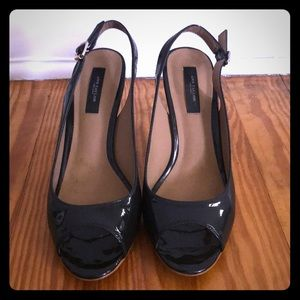 Ann Taylor Black Ankle Strap Heels